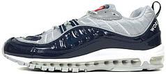 Женские кроссовки Supreme x Nike Air Max 98 Blue, найк, айр макс
