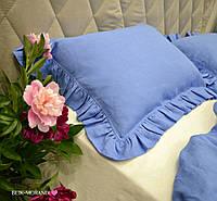 "Комплект из 100% льна с рюшами ""French Vintage Blue"", фото 1"