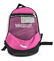 Компактный тканевый рюкзак WALLABY art. 152 розовый Украина