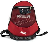 Компактный тканевый рюкзак WALLABY art. 152 красный Украина