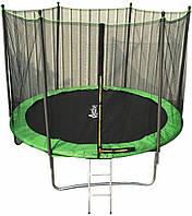 Батут спортивный для детей Active Hobby диаметром 312см (10ft) с лестницей и внешней сеткой