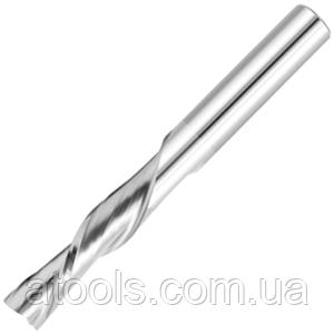Фреза для ЧПУ спиральная плоская с удалением стружки вниз D6 d6 L60 l20 - 2 зуба