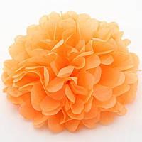 Купить бумажный помпон для оформления, 35 см. светло - оранжевый