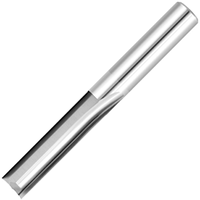 Фреза для ЧПУ прямозубая плоская D12 d12 L80 l40 - 2 зуба