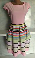 Платье женское с полосатой юбкой