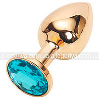 Анальная пробочка с кристаллом (золото)