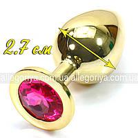 Анальная пробочка с кристаллом (золото), фото 6