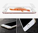 Защитное стекло для iPhone 6\6S белое .черное  на весь экран, фото 3