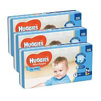 Подгузники Huggies Ultra Comfort 4 (8-14 кг) для мальчика 3 х 50 шт. (150 шт), фото 1