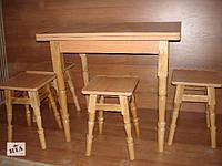 Стол раскладной  + 4 таб