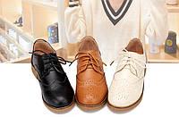 Туфли кожаные с фигурной отделкой
