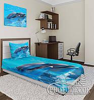 """Фотопокрывало """"Дельфины 1"""" (2,1м*1,7м)"""