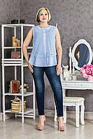 Фигурная женская блуза Хлопок p.46-54 V293-01
