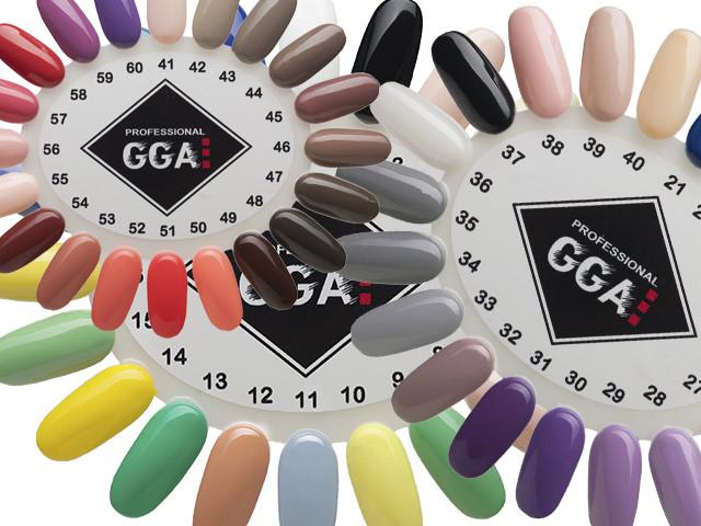 Просмотр палитр гель-лаков GGA Professional