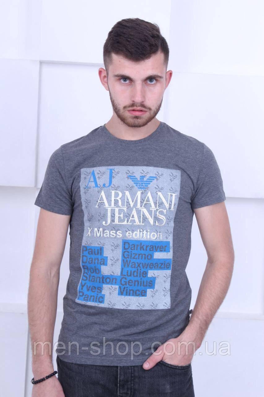 Футболка мужская коттон с принтом Armani