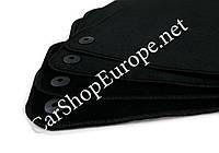 Коврики АУДИ А4 (8Е, В7) (2004 - 2008) чёрные окантовка чёрная, 7 мм