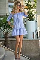Летнее Платье голубая клетка, фото 1