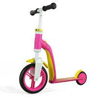 Scoot and ride Беговел+самокат 2 в 1 Highway baby цвет pink/yellow