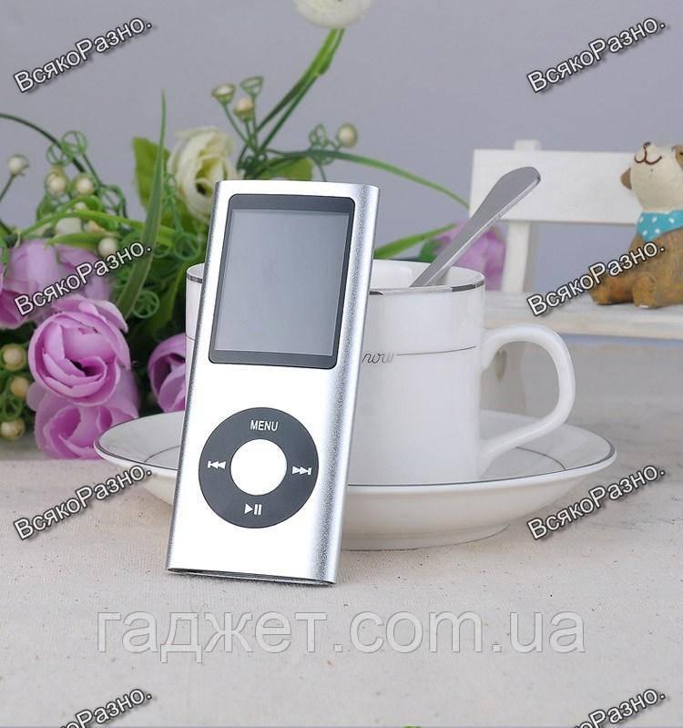 Стильный тонкий MP3 MP4 плеер на 16 гб встроенной памяти