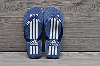Шлепанцы Adidas, тапочки пляжные синие 42