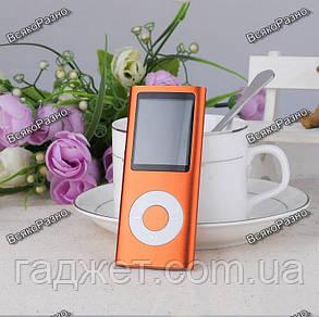 Стильный тонкий MP3 MP4 плеер оранжевого цвета + наушники молния., фото 2
