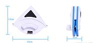 Магнитная щетка для мытья окон с двух сторон размер 8-15 мм