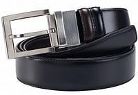Ремень кожаный двухсторонний с шлифованной пряжкой Piquadro C11/Black-Brown CU1873C11_NM ДхШ: 125х3,5 см.