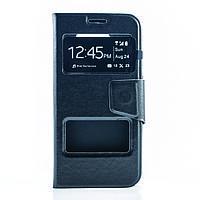 Чехол (книжка) с окошком для Samsung J330 Galaxy J3 (2017) черный