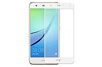 Закаленное защитное 3D стекло (на весь экран) для Huawei P10 (Белое)