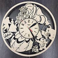 Оригинальные настенные часы «Красавица и чудовище»