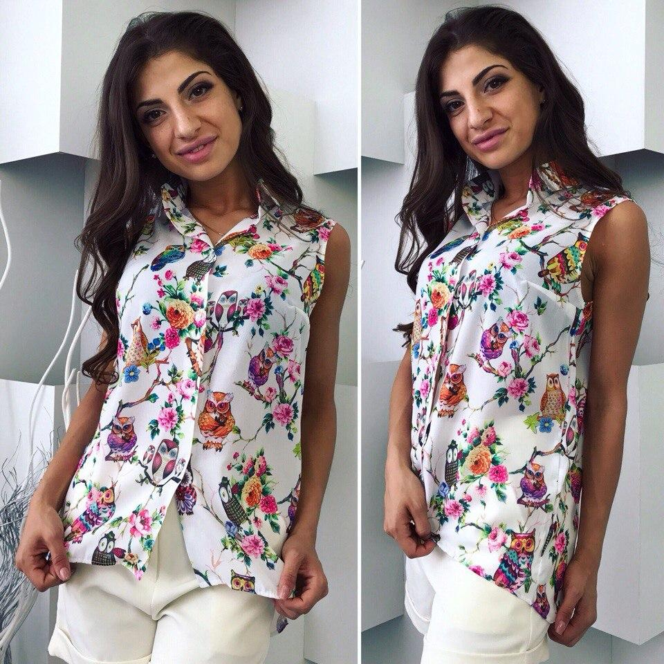 739b5b36d0b Летняя рубашка без рукавов - All You Need - прямой поставщик женской одежды  оптом и в