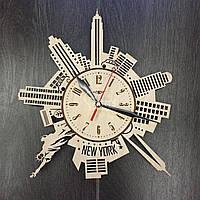 Дизайнерские часы на стену «Силуэты Нью-Йорка»