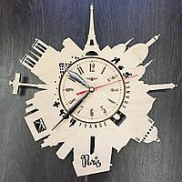 Интерьерные часы из дерева «Силуэты Парижа», фото 1