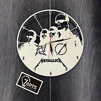 Часы из дерева на стену «Metallica»