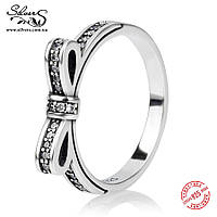 """Серебряное кольцо Пандора (Pandora) """"Нежный бантик"""""""