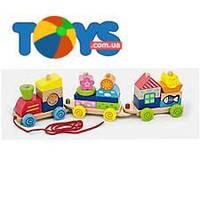 Игрушка-каталка Viga Toys «Паровозик», 50089