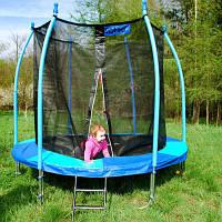 SkyFlyer Детский батут 8 FT, диаметр-244 см. цвет: Blue