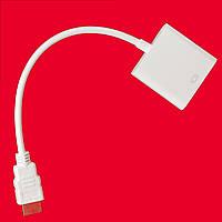 Современный переходник Lesko HDMI-VGA универсальный для подключения телевизора монитора видеокарты