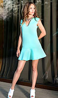 Ментоловое платье из неопрена