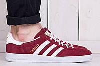 Кроссовки (кеды) мужские Adidas Gazelle Red/White (адидас, реплика) (реплика)