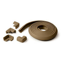 Защита на острые поверхности cushiony table adge guard + 4 corners chocolate