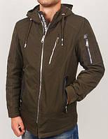 Стильная молодежная куртка удлиненная, приталенная по силуэту