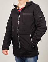 Стильная удлиненная молодежная куртка пошита из качественной плащевки с пропиткой