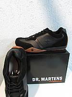 Мужские кроссовки осенние Dr.Martens черные натуральная кожа и замша код (48) 855А