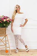 Женское платье в пол белого цвета