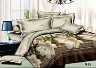 Двуспальный набор постельного белья Ранфорс №279