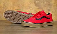 Мужские кеды в стиле Vans Old Skool, красные, фото 1