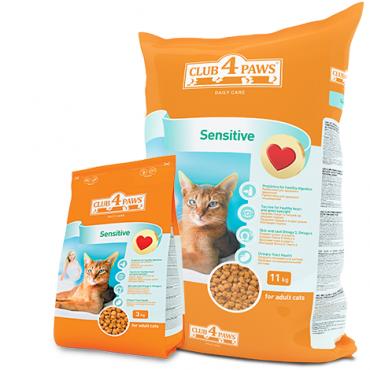 Клуб 4 лапы Sensitive Сухой корм для кошек с чувствительным пищеварением 3кг 0aeb144d26980