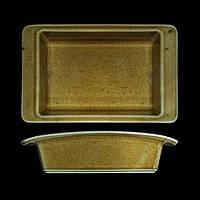 Блюдо для запекания фарфоровое 21х13 см. прямоугольное, коричневое Country Range, G.Benedikt