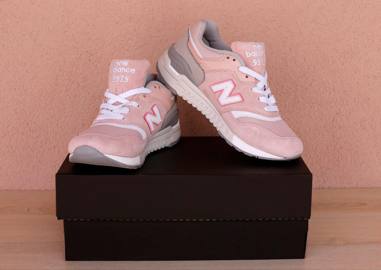 ... фото Женские кроссовки New Balance 997.5 Розовые a75f22b8989e7